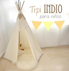 DIY: Tipi indio para niños